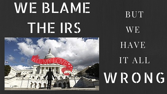 Blaming the IRS